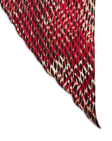 Graphic Grid Angled Scarf