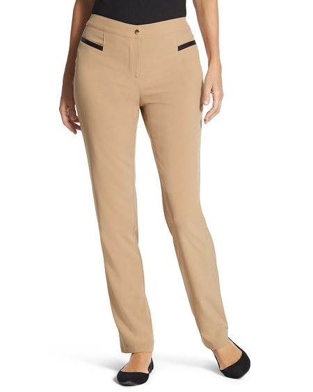 Zenergy Neema Faux-Leather Detail Pants