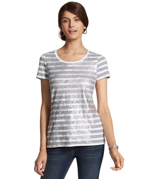 Echo Stripe Foil Stamped Tee