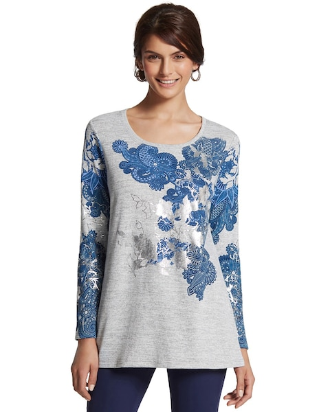 Ember Floral Foil Tunic