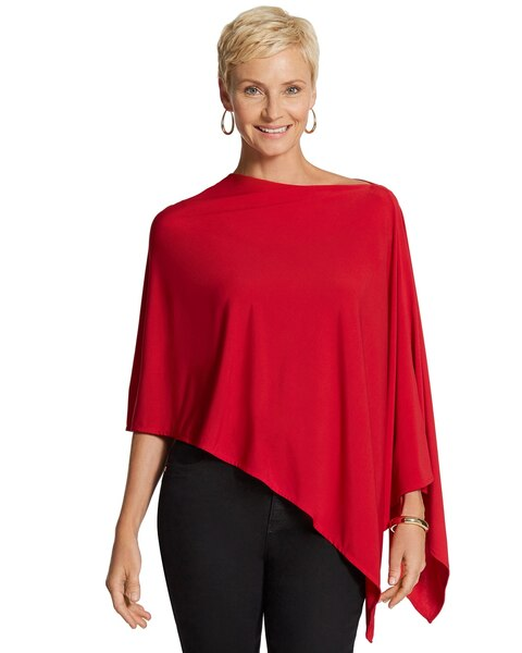 Smooth-Knit Poncho