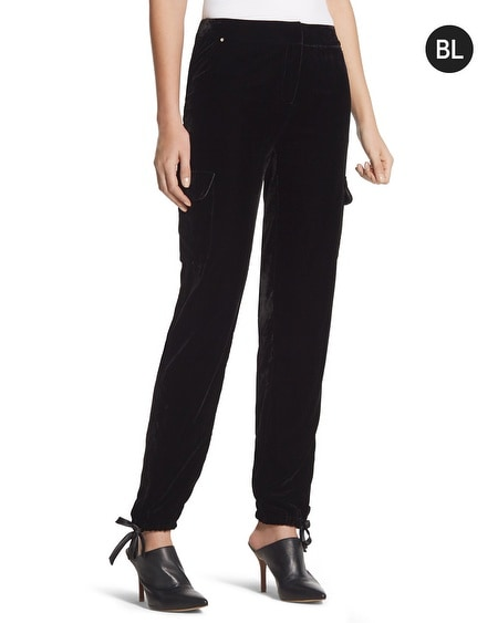 Black Label Velvet Ankle Pants