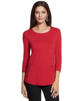 Madison Colorblock Zip Top