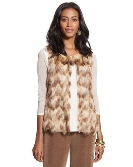 Travelers Collection Faux-Fur Vest