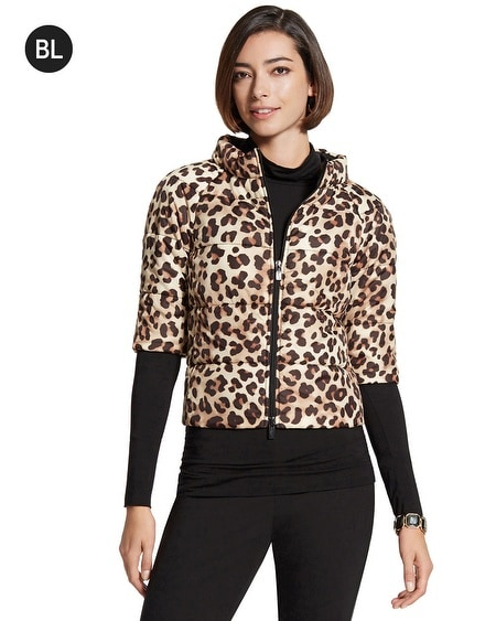 Black Label Animal-Print Jacket