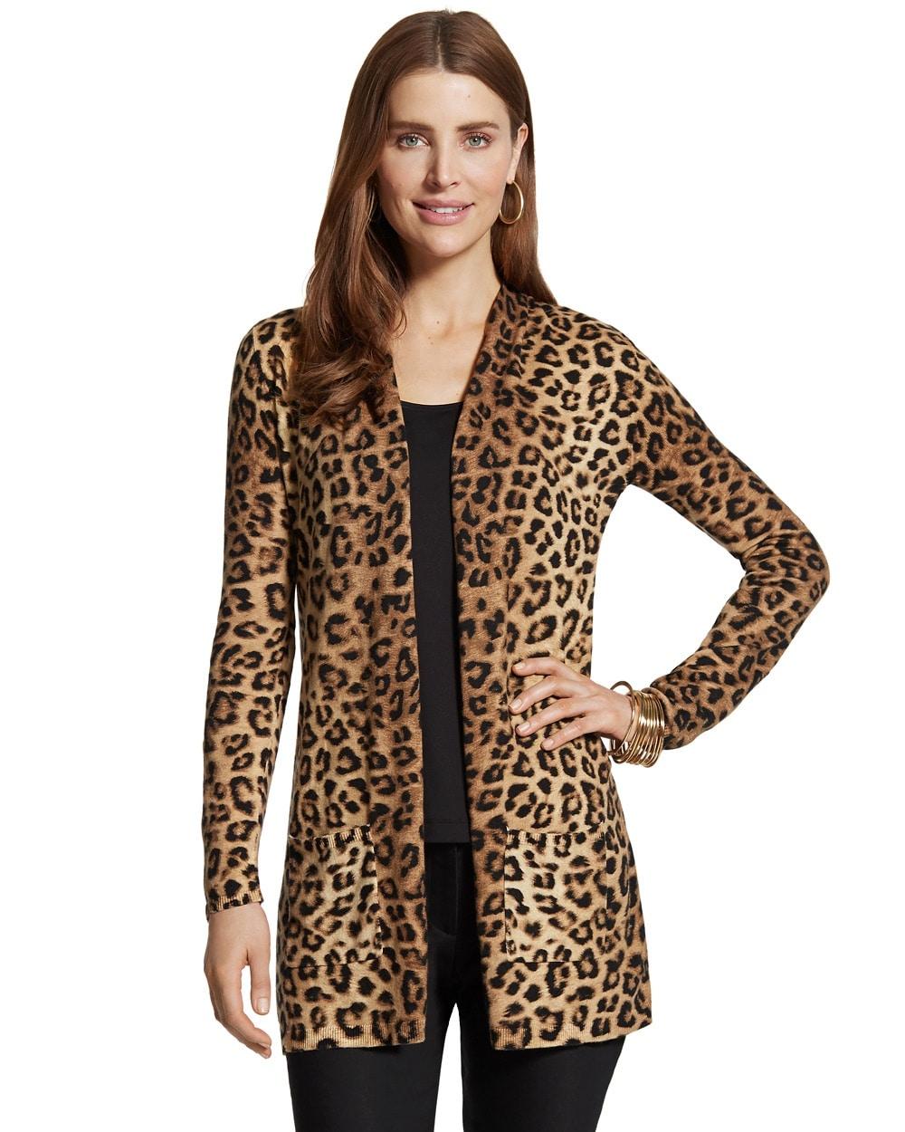 Danielle Leopard Print Cardigan - Chicos