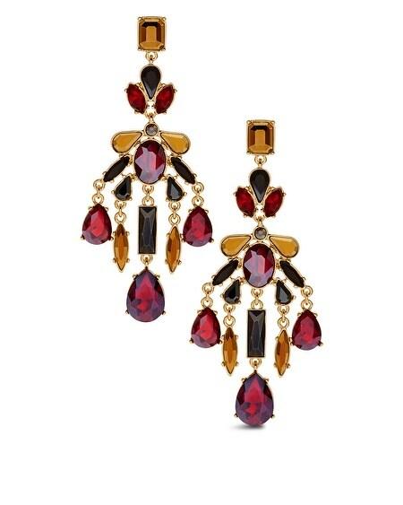 Jonie Red Chandelier Earrings Chicos