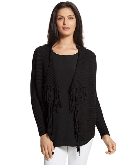 Textured Fringe Faith Cardigan