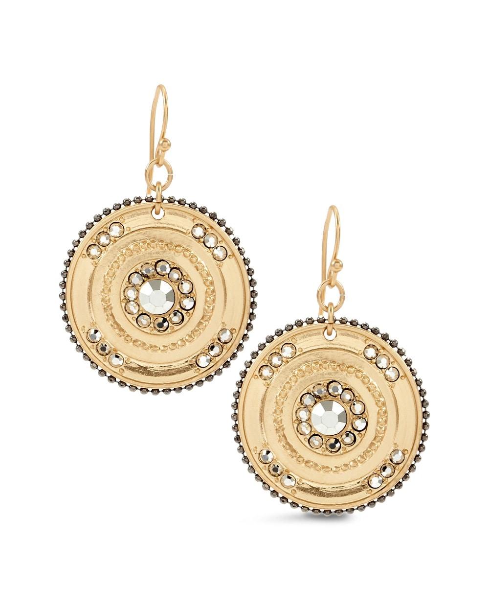 Wynni Gold Medallion Earrings