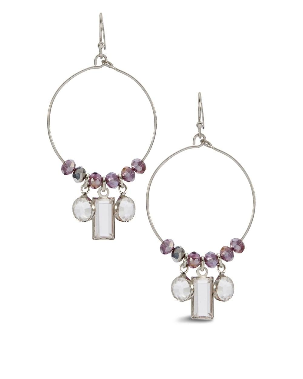 liv purple hoop earrings