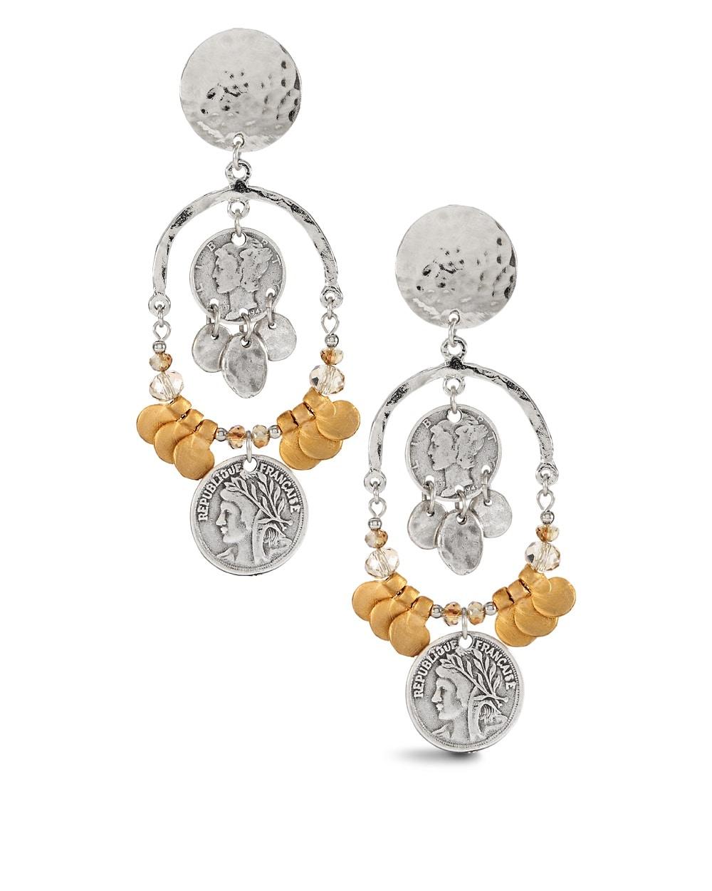 Elda coin chandelier clip earrings chicos elda coin chandelier clip earrings aloadofball Image collections