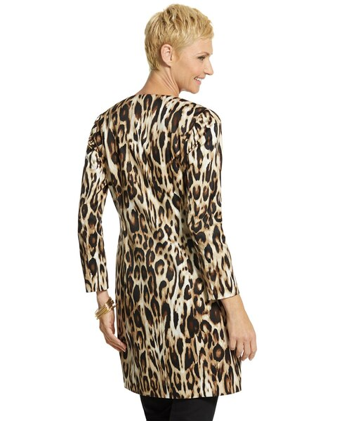 Leopard-Print Sateen Duster - Chicos
