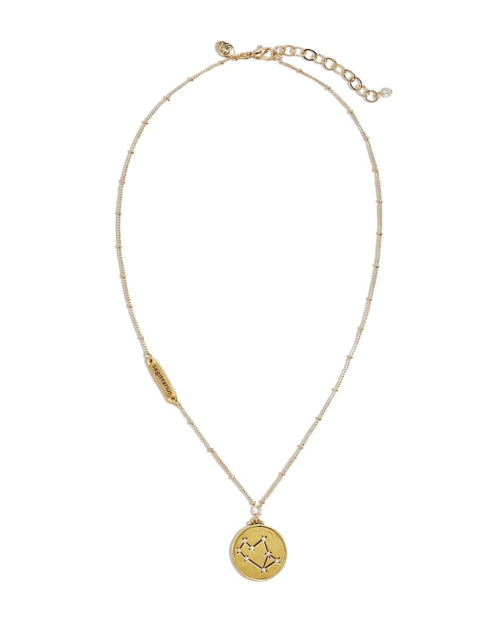 sagittarius zodiac pendant necklace chicos