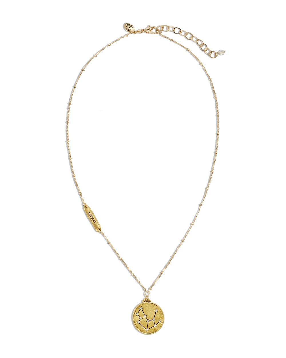 virgo zodiac pendant necklace chicos