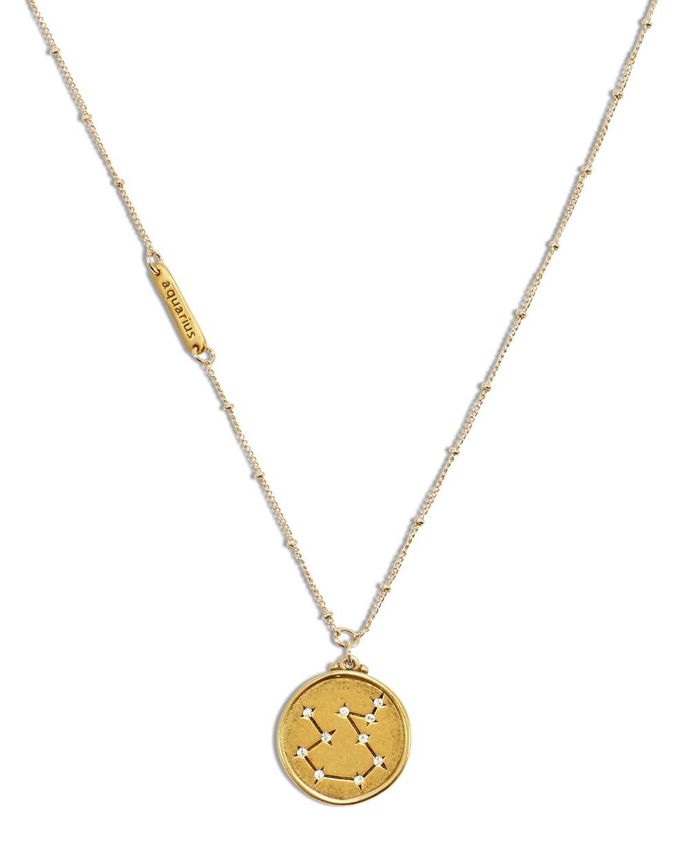 aquarius zodiac pendant necklace chicos
