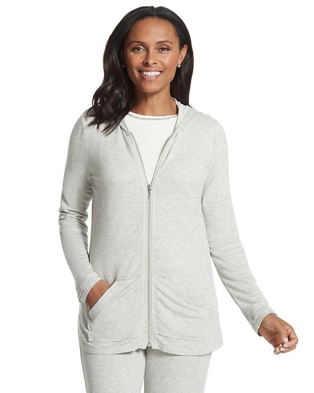 Zenergy Retreat Zip-Front Hooded Jacket