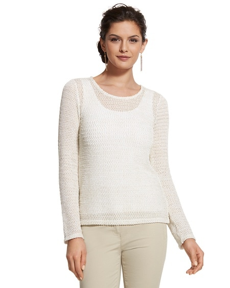 Fran Open-Knit Top