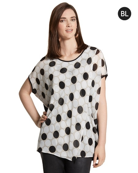 Black Label Layered Graphic Dot Top