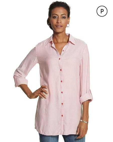 Petite Textured Stripe Tori Shirt