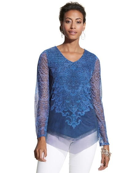 Textured Lace Charm Top