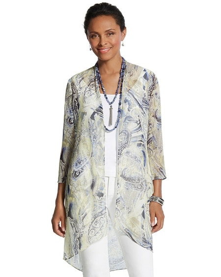 Arielle Paisley Duster Cardigan