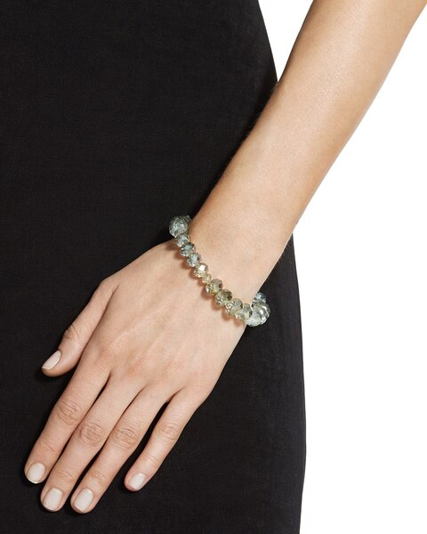Kaiya Green Faceted Stretch Bracelet - Chicos