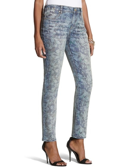 Platinum Denim Floral Ankle Jeans