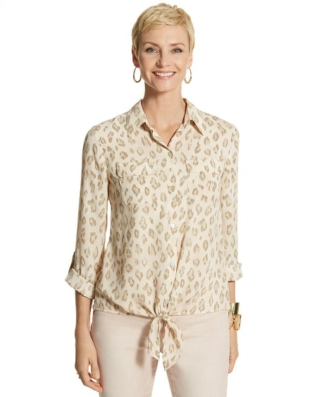 Soft Animal-Print Eliot II Shirt