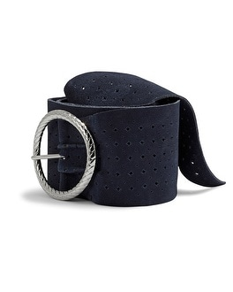 Donatella Blue Leather Belt