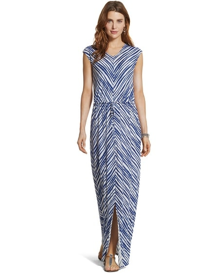 Tie-Front Striped Maxi Dress
