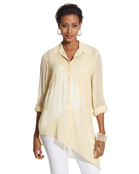Embroidered Mix Maya Shirt