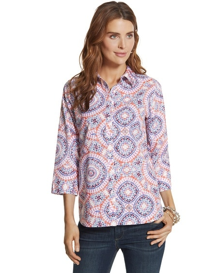 Effortless Danise Sunburst Button-Down Shirt