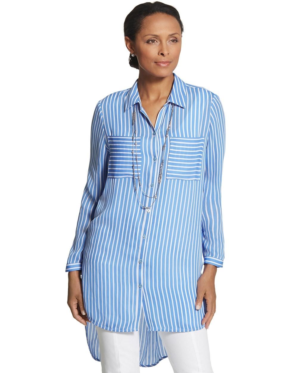 67d38ecc7520 Striped Pocket Play Nikki Shirt - Chico's