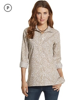 Petite Effortless Cayla Animal-Print Shirt