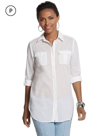 Petite Celia Relaxed Cotton Shirt