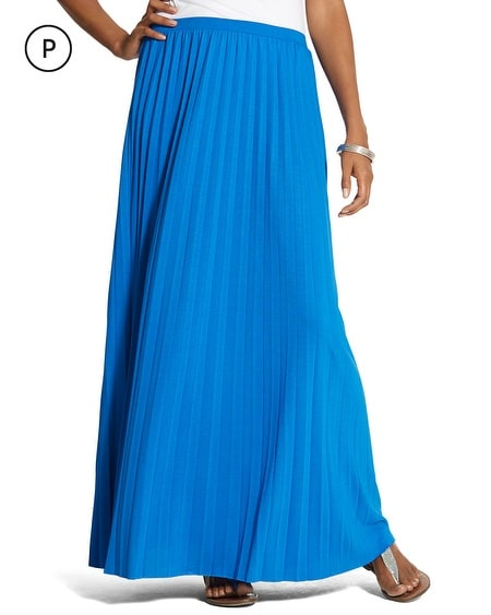 Petite Pleated Maxi Skirt