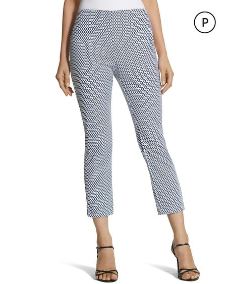 So Slimming Petite Diamond-Print Crop Pants