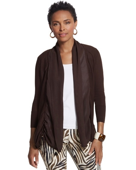 Ruched Reema Cardigan