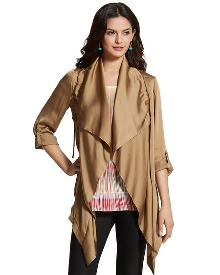 Draped Anorak Jacket