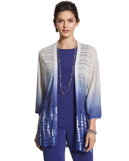 Travelers Collection Tie-Dyed Cardigan