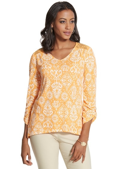 Teri Summer Tribe Orange Top
