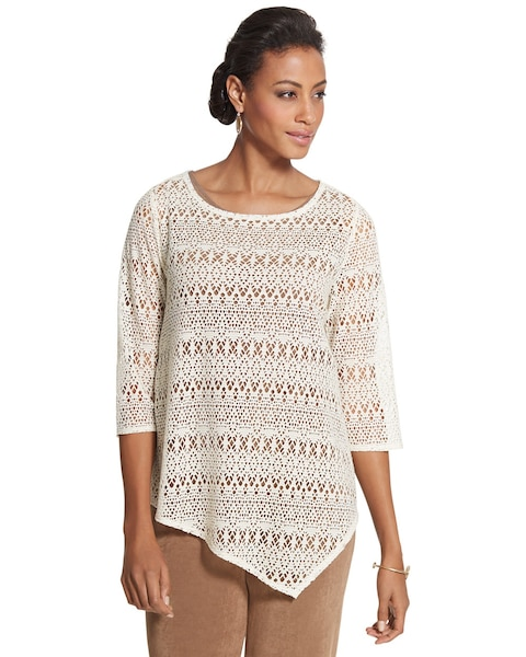 Open Knit Top Chicos