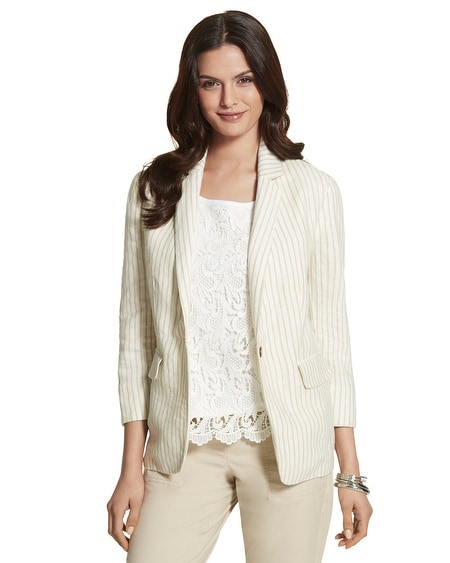 Easy Striped Blazer