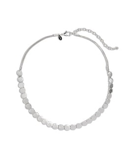 Justine Silver-Tone Circle Necklace