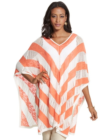 Donna Striped Ruana Wrap