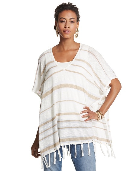 Empire Stripe Maureen Poncho