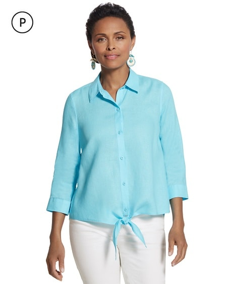 Petite Effortless Linen Lydia Shirt