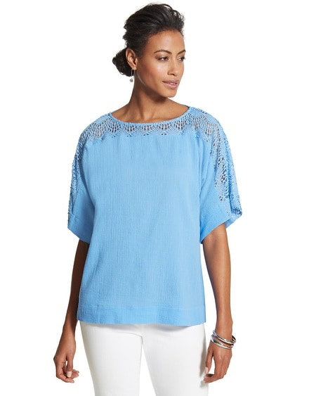 Jessica Crocheted Lace Top
