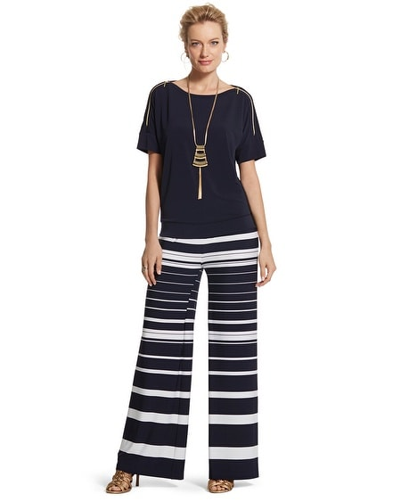 Knit Kit Ink-Striped Palazzo Pants