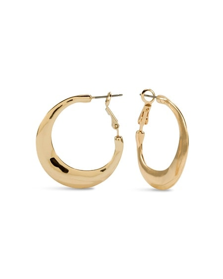 Candi Gold-Tone Hoop Earrings